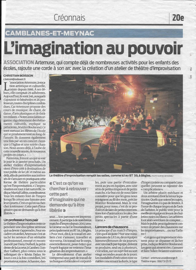 Sud Ouest - 08.01.15